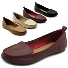 ollio Womens Shoes Light Comfort Moccasin Faux Leather Ballet Flat