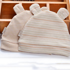 0-1Y Infant Boy Girl Cotton Tire Hats Baby Clothing Accessory Soft Caps With Ear