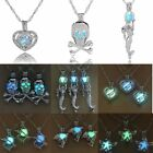 Fashion Mermaid Heart Glow In The Dark Pendant Necklace Womens Jewelry Gift New