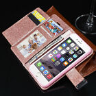 New Bling Glitter Magnetic Flip Cover  Wallet Leather Case iPhone 5,5s,6,6s,7