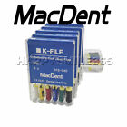 10 Packs MacDent K-FILE Endodontics Root Canal Files Dental Use 21mm All Size CE