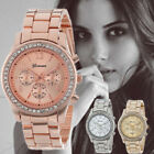Fashion Women Stainless Steel Crystal Diamonds Ladies Quartz Analog Wrist Watch  image