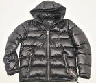 1 GUESS Basic Puffer Jacket Black Winter Hooded Coat 2018 NEW 100% Original