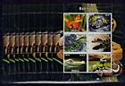 PL28 - 10pcs Animals - Reptiles Snake Crocodile perf. Privat Local Issue not MNH