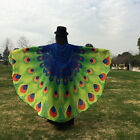 Fashion Soft Fabric Peacock Butterfly Wings Shawl Costume Plus 197x125cm