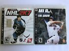 playstaion 3 bundle nhl 2k7, mlb07 the show