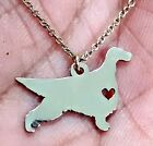 Irish Setter - Sterling Silver Jewelry - Gold - Rose Gold - Engrave - Gift