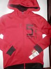 NWT-Reebok Boys Hooded Lightweight Black/Red Jacket--B1B-#158