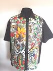 Mens Contigo mexican skull lounge diner shirt Gothic Psychobilly Blk Red Gry
