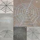 Giant New Spiders Web Cobweb Horror Prank For Halloween Party Decor Prop