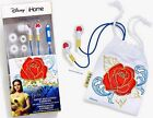Licensed Beauty And he Beast Belle Noise Isolating Earbuds With Red Rose Pouch