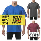 PROCLUB PRO CLUB MENS PLAIN SHORT SLEEVE T SHIRT HEAVYWEIGHT CASUAL COTTON TEE image