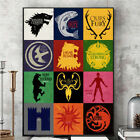 Game of Thrones House Sigils Canvas Art Print Poster