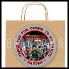 Ninjago Movie Birthday Party Favor Goody Bag STICKERS - Personalized Labels