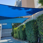 Blue Sun Shade Sail Standard Size Patio Garden Pergola UV Block Fabric Top