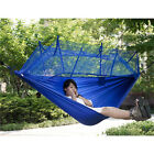 Double Person Portable Hammock Hanging Sleeping Bed Swing Outdoor Travel Camping