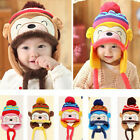 Hot Fashion Winter Warm Kid Baby Girl Boy Cartoon Ear Thick Knit Beanie Cap Hats