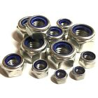 1/4 5/16 3/8 7/16 1/2 UNF A2 Stainless Steel Nyloc Nylon Insert Locking Nuts