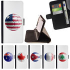 COUNTRY SOCCER FOOTBALL FLAG WALLET CASE COVER FOR SAMSUNG GALAXY S7