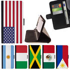 WORLD COUNTRY FLAG WALLET CASE COVER FOR APPLE IPHONE 7 PLUS