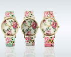 New Cheap Ladies /girls Stretchable Colourfull Flower print Analogue Wrist watch