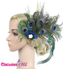 1920s Headband Feather Peacock Bridal Great Gatsby Flapper Headpiece Gangster