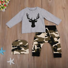Newborn Kid Baby Boy Clothes Long Sleeve T shirt Top Camouflage Pants Outfit Set