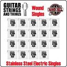 Ernie Ball Stainless Steel Electric Guitar WOUND SINGLE Strings