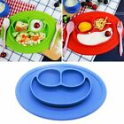 Kids One Piece Silicone Placemat Plate Dish Food Tray Table Mat for Baby Toddler