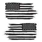 Set of 2 Distressed American Flag Decals Car Window Stickers