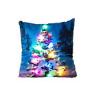 LED Light Up Christmas Flamingo Pattern Cotton Linen Throw Pillow Cushion Cover