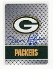 DAVE ROBINSON GREEN BAY PACKERS AUTOGRAPHED PLAYING CARD COOL LOOKING HALL OF FA