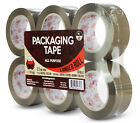 "Red Frog 6-72 Rolls 1.88"" X (60/110) Yards Tan/brown Packing Packaging Tape"