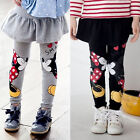 Kids Girl Baby Leggings Minnie Mouse Stretchy Cotton Skirt Pants Trousers 2-6Y