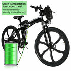 "26""Foldable Electric Mountain Bike Bicycle Ebike W/Lithium Battery 250W 36V"