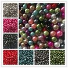 Wholesale!100-2000pcs 6/8/10mm No Hole Pearl Round Spacer Loose Beads 16 Color