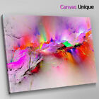 AB1207 modern pink fuchsia yellow Abstract Wall Art Picture Large Canvas Print