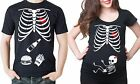 Pregnancy Funny X-ray Skeleton Baby Girl Funny Halloween Couples Costume Tshirts