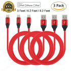 KINCS Nylon Braided USB to Lightning Charging Cable Cord for Apple iPad - 3 Pack