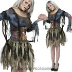 CL986 Zombie Costume Womens Walking Dead Ghost Horror Scary Halloween Dress Up
