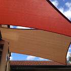 8'x12' Brown Rectangle Sun Shade Sail Outdoor Yard Patio UV Block Fabric Curve