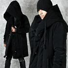 NewStylish Mens Fashion Outer Outwear Big Wide Hood Accent Black Cozy Parka