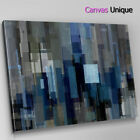 AB1708 blue modern squares Abstract Wall Art Picture Large Canvas Print