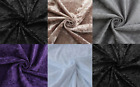 THICK CRUSHED VELVET PLAIN MATERIAL BY THE METER FOR CLOTHING,CURTAINS,WEDDING