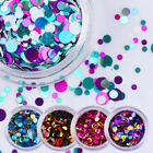 Ultrathin Nail Art Sequins UV Gel Colorful Shiny Round Stickers Decor Tips #IDM