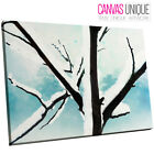 SC269 Winter Trees Snow Sketch Scenic Wall Art Picture Large Canvas Print