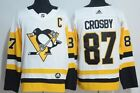 Pittsburgh Penguins 87 Sidney Crosby White Adidas Jersey