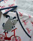 """NEXT baby boy toodle pip grey white blue dog blackout lined curtains set 46""""x54"""""""
