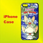 Pinky and the Brain World Funny Cartoon Case iPhone 4s 5s 5c SE 6+ 6s+ 7+ 8 X #T
