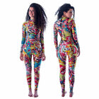 3mm Neoprene Winter women long wetsuit color print stitching surfing diving suit $107.18 CAD on eBay